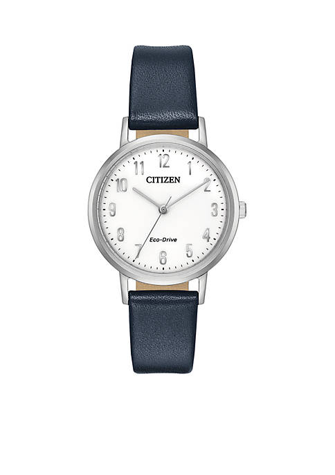 Womens Citizen Eco-Drive Stainless Steel Watch and Blue