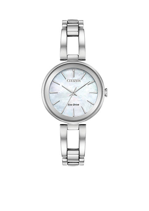 Citizen Womens Stainless Steel Eco-Drive Axiom Watch