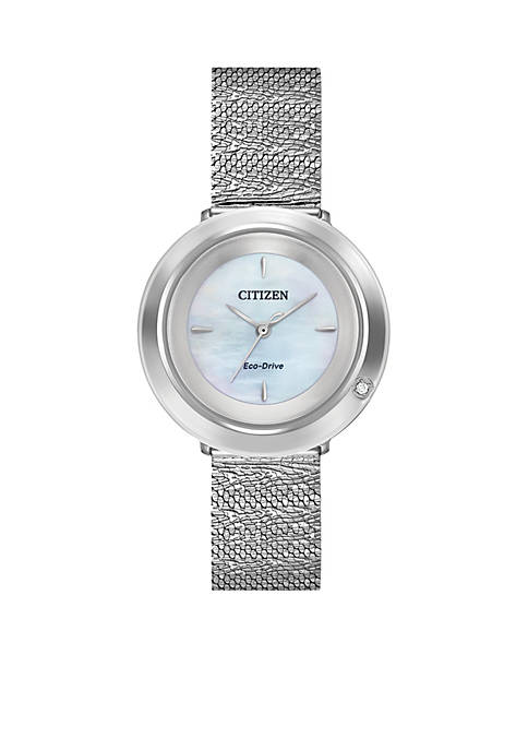 Citizen Womens Stainless Steel Eco-Drive L Ambiluna Mesh
