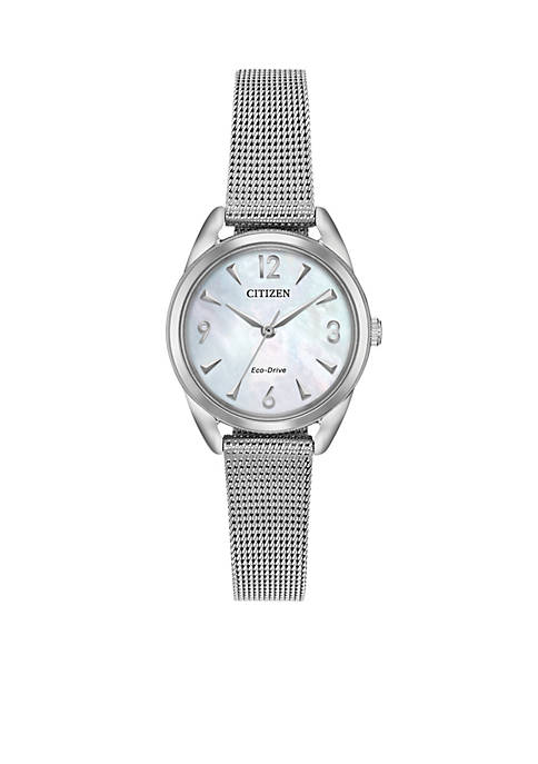 Citizen Womens Stainless Steel Eco-Drive Mesh Bracelet Watch
