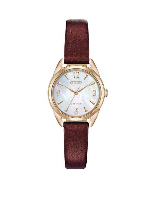 Citizen Womens Gold Tone Stainless Steel Drive Faux