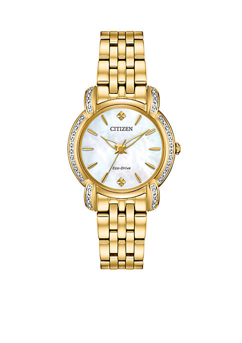 Gold-Tone Stainless Steel Eco-Drive Jolie Watch
