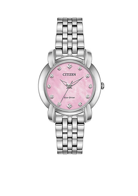 Citizen Silver-Tone Stainless Steel Eco-Drive Jolie Watch