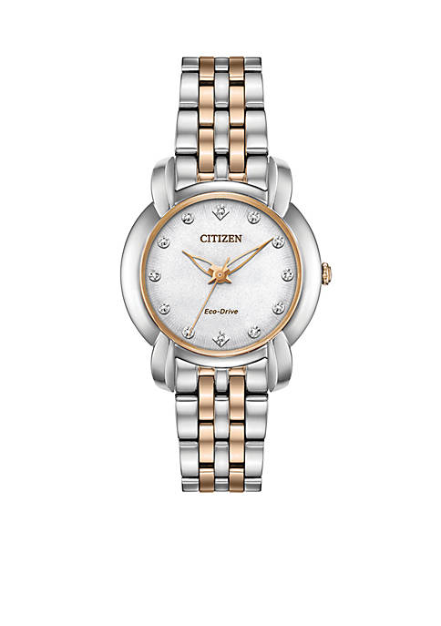 Citizen Two-Tone Stainless Steel Eco-Drive Jolie Watch