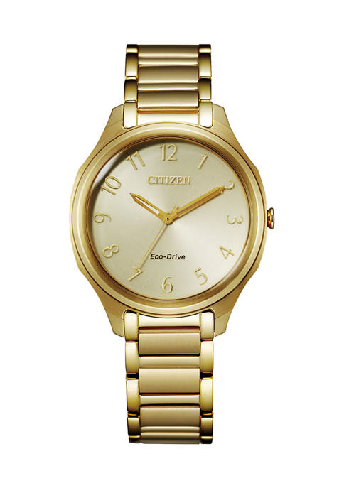 Citizen Drive Womens Gold Tone Stainless Steel Bracelet