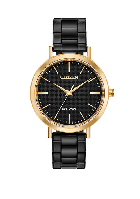 Citizen Womens Drive Black Stainless Steel Bracelet Watch