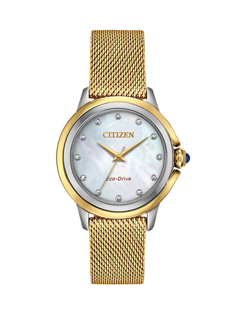 Womens Citizen Ceci Gold Tone Stainless Steel Bracelet