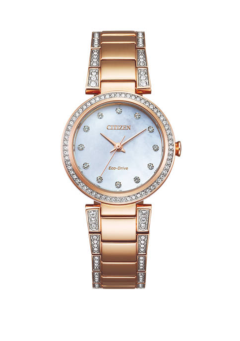 Citizen Womens Eco-Drive Crystal Watch