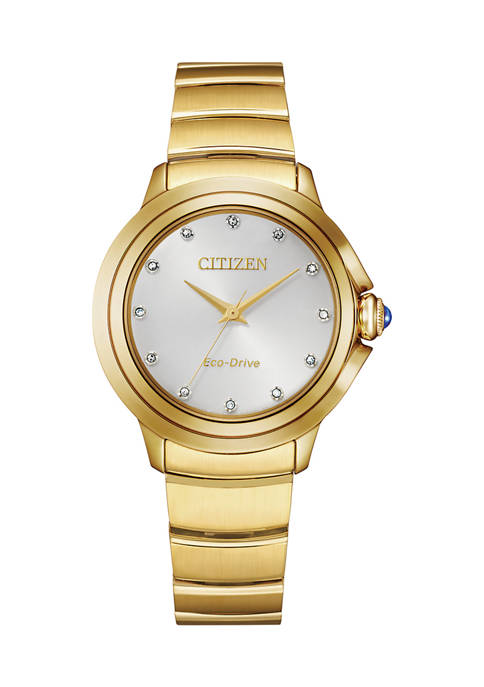 Citizen Womens Ceci Gold Tone Stainless Steel Bracelet