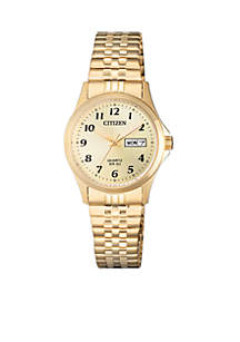 Women's Gold-Tone Stainless Steel Watch With Date