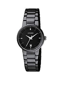 Ladies Black-Tone Quartz Watch