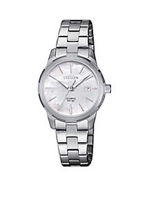 Women's Stainless Steel Quartz Watch With Date