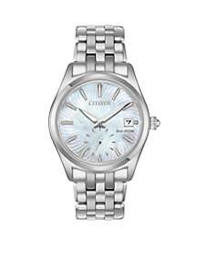 Women's Silver-Tone Stainless Steel Eco-Drive Corso Bracelet Watch