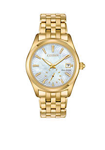 Women's Gold-Tone Stainless Steel Eco-Drive Corso Bracelet Watch