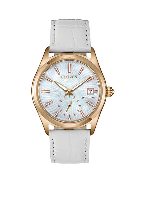 Citizen Womens Rose Gold-Tone Stainless Steel Eco-Drive Corso