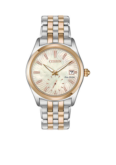 Citizen Womens Two-Tone Stainless Steel Eco-Drive Corso Watch