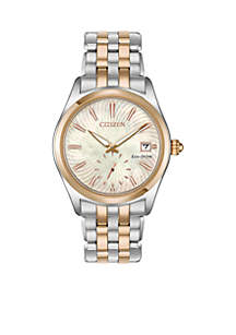 Women's Two-Tone Stainless Steel Eco-Drive Corso Watch With Date