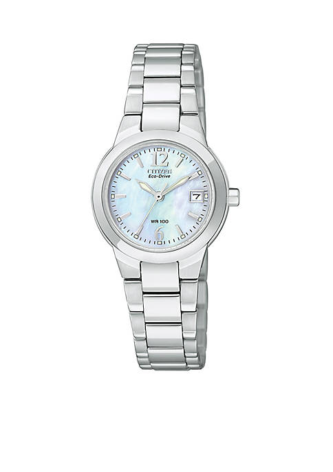 Eco-Drive Ladies Silhouette with Mother of Pearl Dial - Online Only