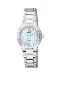 Eco-Drive Ladies' Silhouette with Mother of Pearl Dial - Online Only