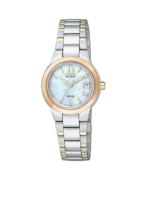 Eco-Drive Womens Silhouette with Mother of Pearl Watch