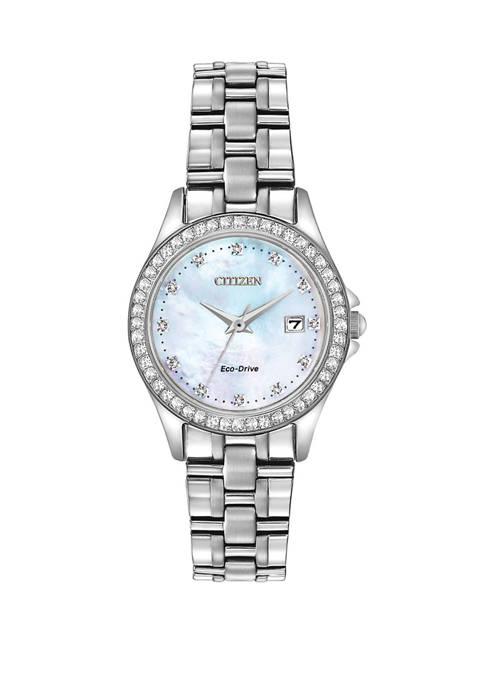 Womens Sterling Silver Bracelet Watch