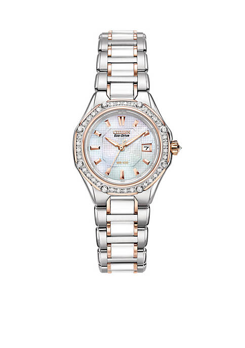Citizen Womens Eco-Drive Signature Watch with Diamond Accents