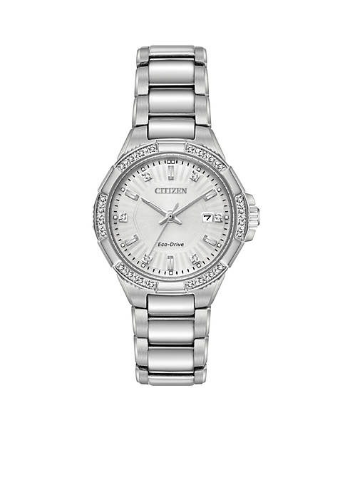 Citizen Womens Stainless Steel Eco-Drive Bracelet Watch