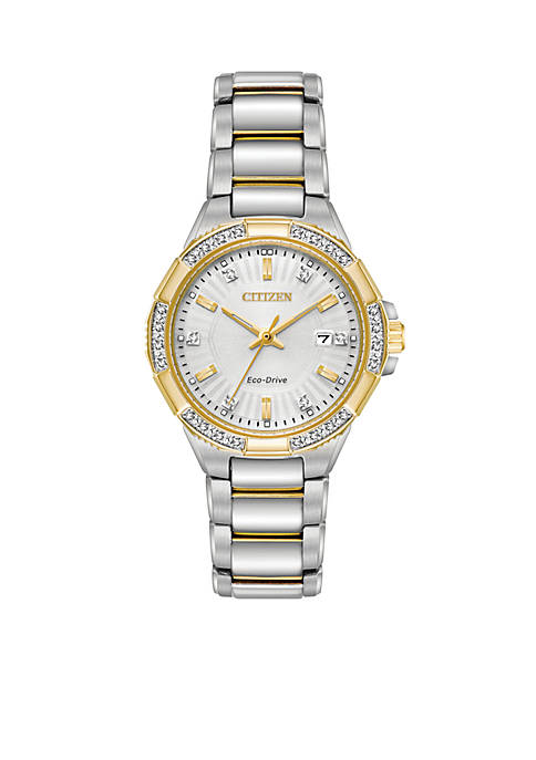 Citizen Womens Eco-Drive Two-Tone Stainless Steel Bracelet Watch