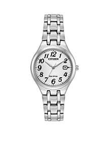 Women's Stainless Steel Eco Drive Bracelet Watch