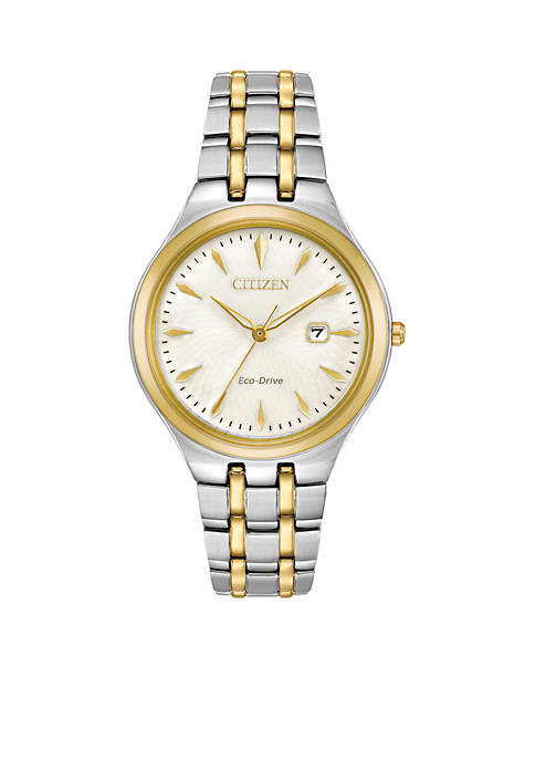 Citizen Womens Two-Tone Stainless Steel Eco-Drive Bracelet Watch