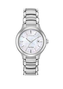 Stainless Steel Eco-Drive Women's Chandler Bracelet Watch