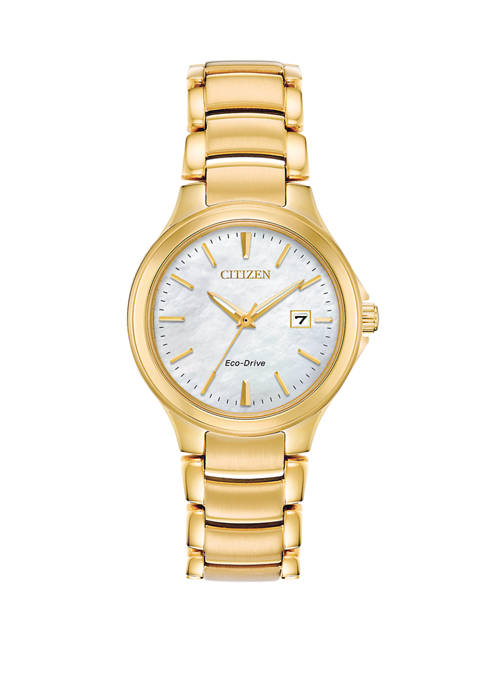 Citizen Womens Eco-Drive Chandler Gold-Tone Stainless Steel