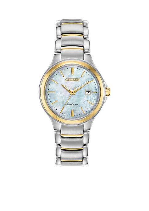 Citizen Two-Tone Stainless Steel Eco-Drive Chandler Bracelet