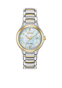 Two-Tone Stainless Steel Eco-Drive Chandler Bracelet Watch