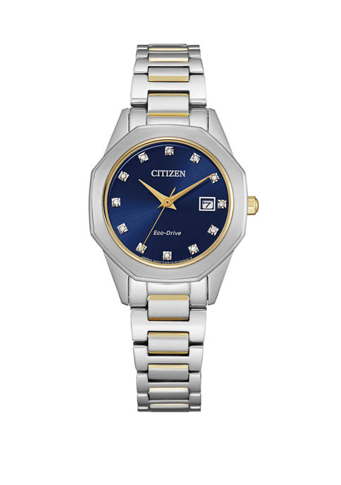 Citizen Womens Eco Drive Corso Diamond Dial Watch