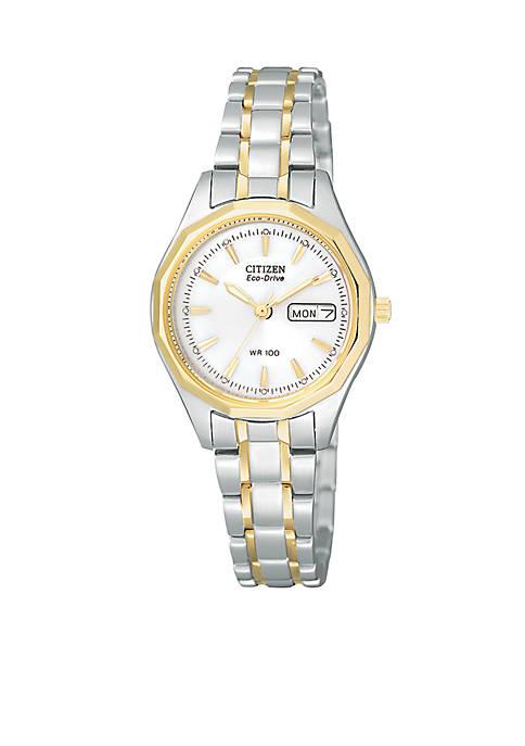 Womens Eco-Drive Two-Tone Sport Watch