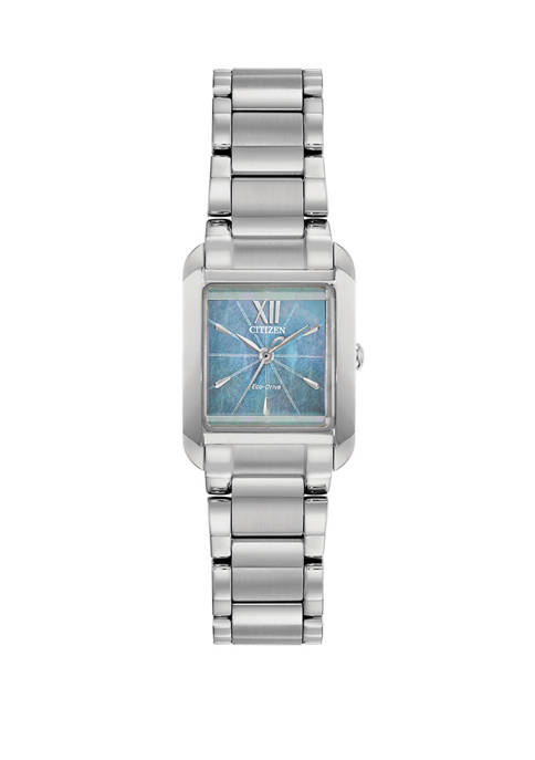 Citizen Womens Bianca Silver-Tone Stainless Steel Bracelet Watch