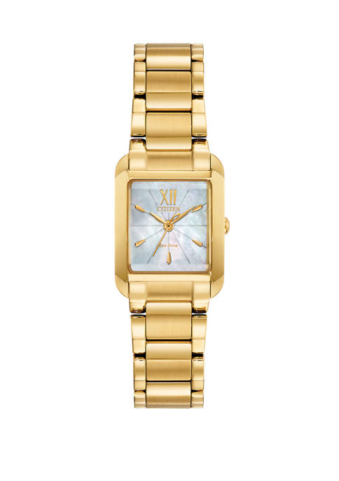 Citizen Womens Bianca Gold-Tone Stainless Steel Bracelet Watch