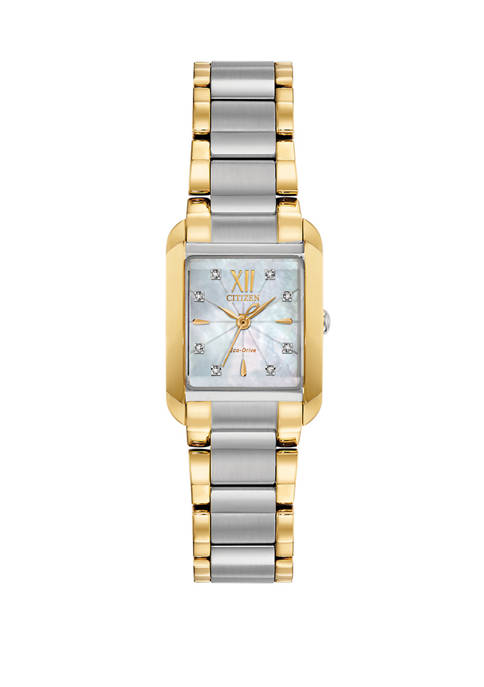 Citizen Womens Bianca Gold Tone Stainless Steel Bracelet