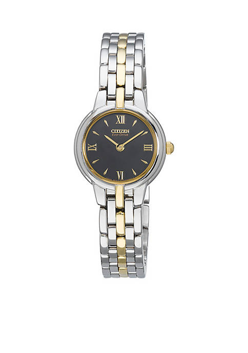 Citizen Eco-Drive Womens Two-Tone Silhouette Watch