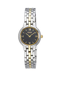Eco-Drive Women's Two-Tone Silhouette Watch