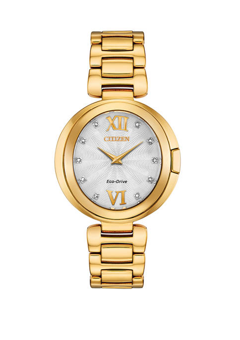 Citizen Womens Capella Gold-Tone Stainless Steel Bracelet Watch