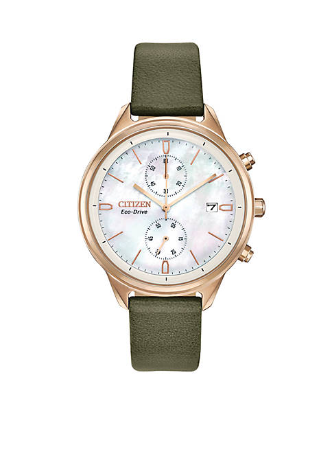 Citizen Stainless Steel Eco-Drive Chronograph Chandler Olive