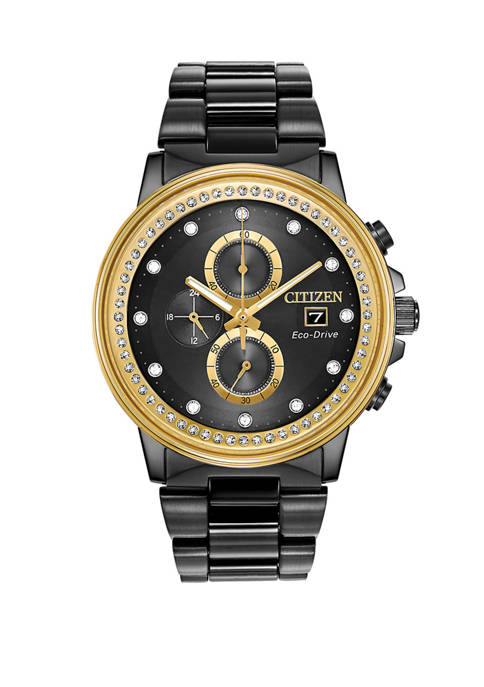 Citizen Mens Eco-Drive Chronograph Nighthawk Chandler Black