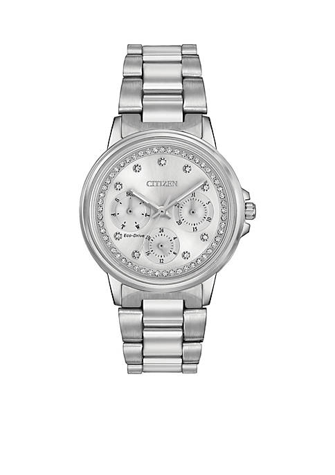Womens Silhouette Crystal Eco-Drive Watch
