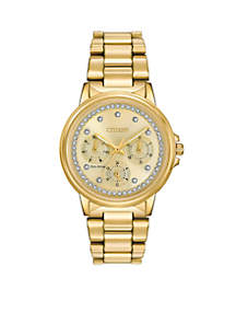 Women's Silhouette Crystal Eco-Drive Watch