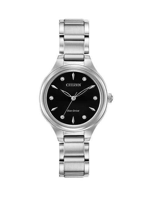 Citizen Womens Corso Silver Tone Stainless Steel Bracelet