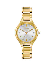 Gold-Tone Stainless Steel Eco-Drive Corso Bracelet Watch