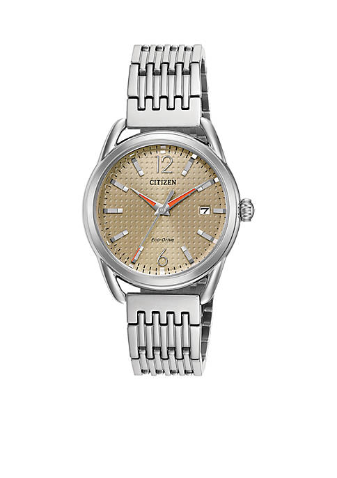 Ladies Silver-Tone Stainless Steel Drive From Citizen Watch