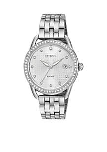 Women's Drive From Citizen Eco-Drive Stainless Steel Watch with Date and Silver-Tone Stainless Steel Bracelet